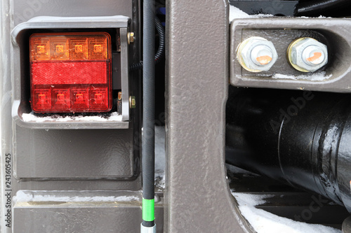 Back light of the excavator  Power hydraulic control unit of the