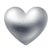 Vector Silver Polygonal Heart ...