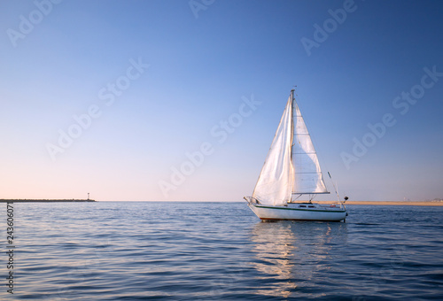Voile Sailboat in Channel Islands harbor in Oxnard California United States
