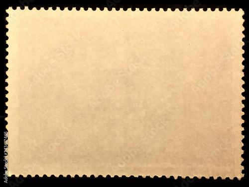 Fotografía  Old grunge postage stamp reverse side