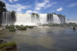 View of a section of the Iguazu Falls, from the Brazil side