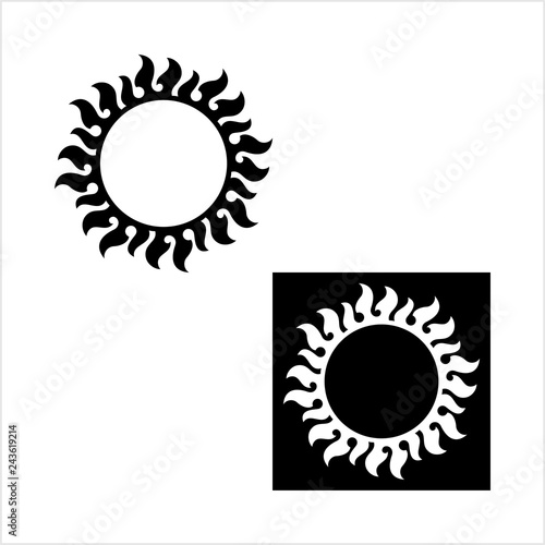 598dee552 Tattoo Sun, Flame Tribal Design - Buy this stock vector and explore ...