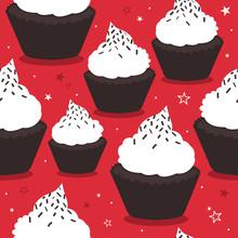 Cupcakes, Stars, Hand Drawn Se...