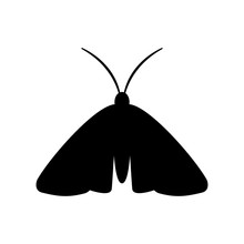 Clothing Moth Silhouette Icon....