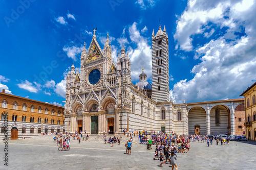 Vászonkép Höhepunkte der Toskana: Dom zu Siena