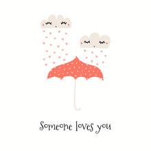 Hand Drawn Valentines Day Card...