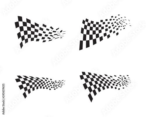 Race flag icon design Fototapeta