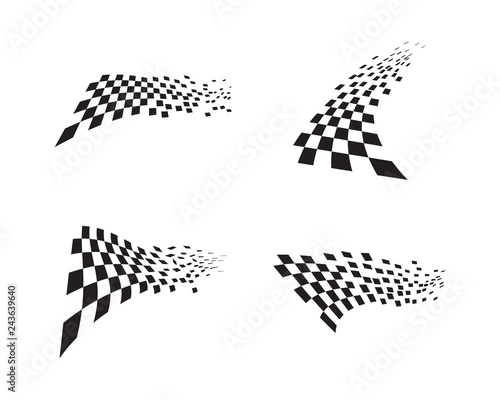 Race flag icon design Wall mural
