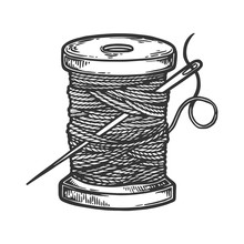 Spool Of Thread And Needle Eng...