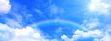Fototapeta Tęcza - 青空と雲と太陽と虹