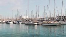 Many Yachts And Ships At The M...