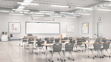 Classroom Interior. 3D Illustr...