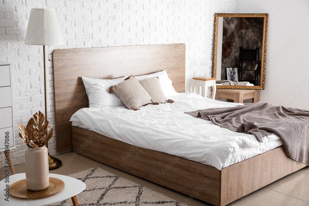 Fototapety, obrazy: Interior of light modern bedroom