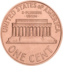 One Cent Coin Isolated On Whit...