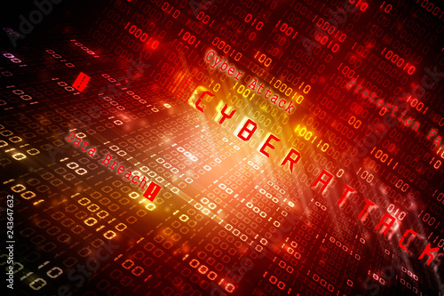 Photo  2d illustration Cyber Attack A06