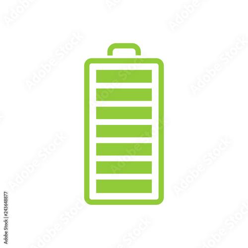 Cuadros en Lienzo  Battery flat vector illustration