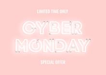 Cyber Monday Sale Pink Neon El...