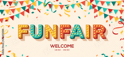 Fotografie, Obraz  Funfair retro typography design