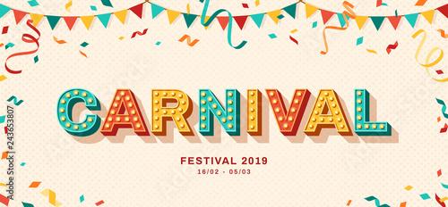 Carnival retro typography design Fototapete