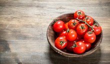 Ripe Tomatoes In A Bowl .