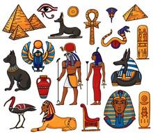 Egyptian Vector Pharaoh Charac...