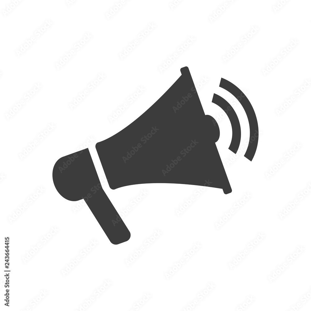 Fototapety, obrazy: Megaphone icon on white background.
