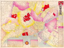 1891, Meiji Map Of Tokyo Or Ed...