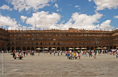 Image of the main square of Salamanca, Spain