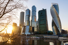 Russia, Moscow, Modern Skyscrapers In The Financial District