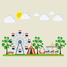 Amusement Park, Fair With Caro...