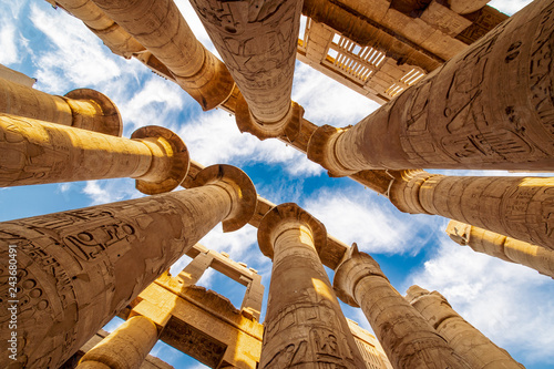 Karnak Hypostyle hall columns in the Temple at Luxor Thebes Canvas-taulu