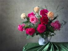 Still Life With Bouquet Of Gar...