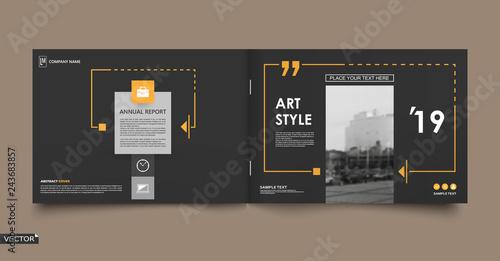 Fotografía  Abstract patch brochure cover design