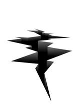 Ground Crack Icon. Clipart Ima...