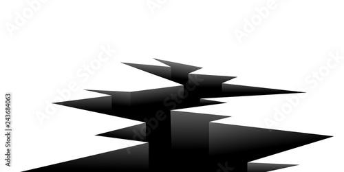 Fotografie, Obraz  Ground crack icon. Clipart image isolated on white background