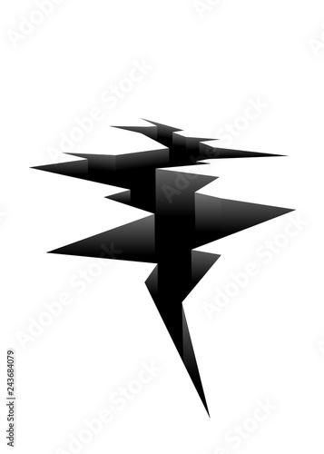 Leinwand Poster Ground crack icon. Clipart image isolated on white background