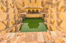 Step Well Near Amber Fort At Jaipur In The Indian State Of Rajasthan, India.