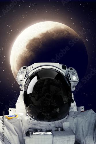 Stickers pour porte Nasa Astronaut