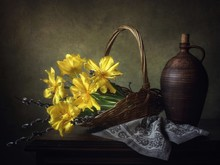 Still Life With Bouquet Of Yel...