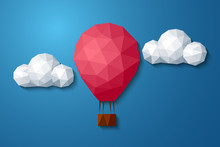 Low Polygonal Air Balloon In C...