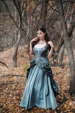 Young Woman In Historical Dres...