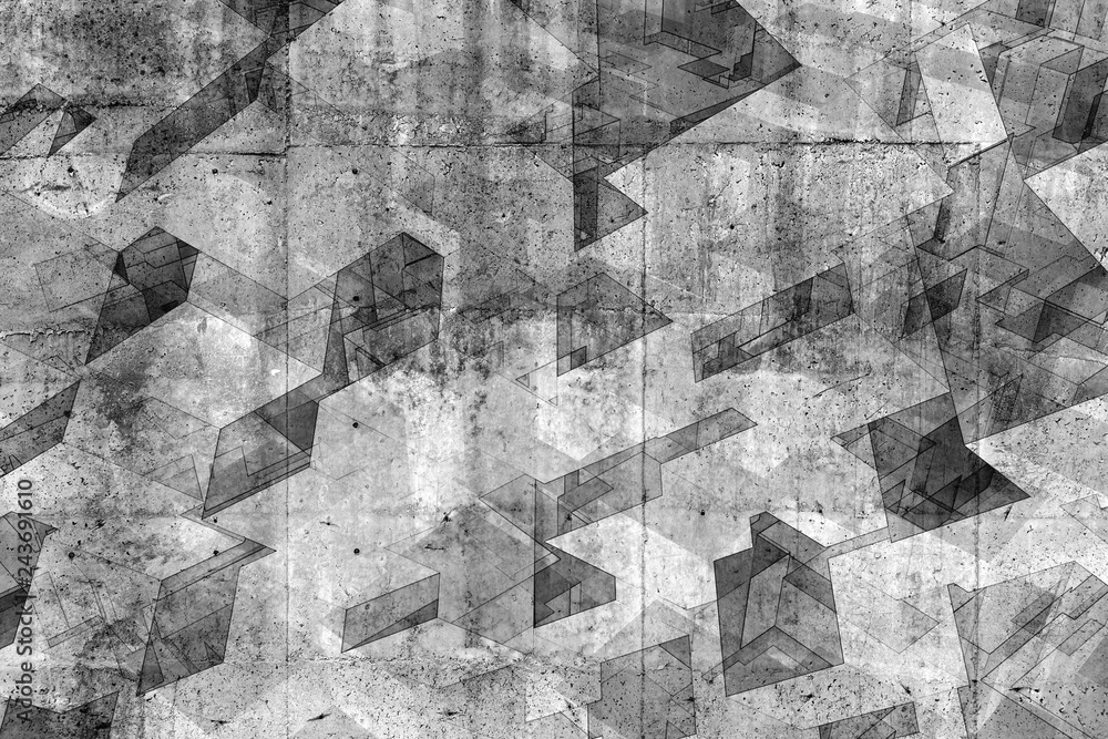 Abstract concrete background pattern, 3d render