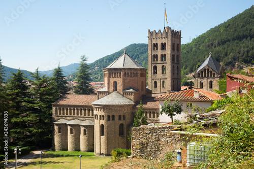 Tuinposter Europa Benedictine Monastery of Santa Maria de Ripoll, Catalonia