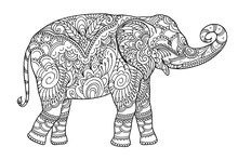 Drawing Zentangle Elephant, Fo...