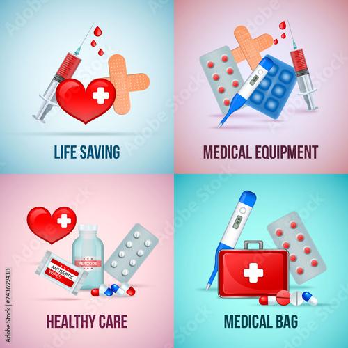 Fotografía  First Aid Realistic Concept