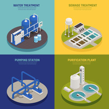 Water Cleaning Concept Icons Set
