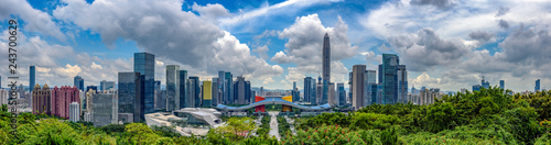 Photo  Wide panorama of Cityscape of Shenzhen, China
