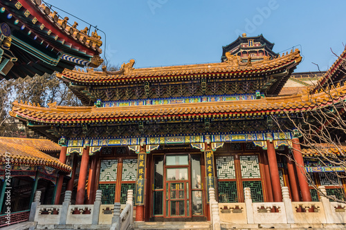 Tablou Canvas Beautiful chinese confucian temple, Beijing
