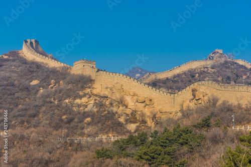 Aluminium Prints Texas The Great Wall of China, section of Badaling, China