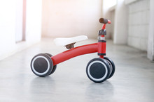 Red Tricycle For Man With Vacuum Cleaner